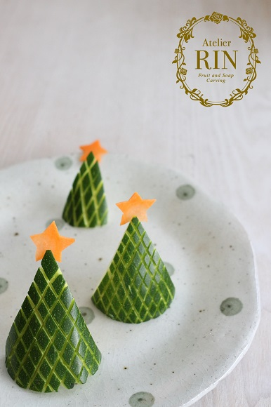 ズッキーニ クリスマスツリー